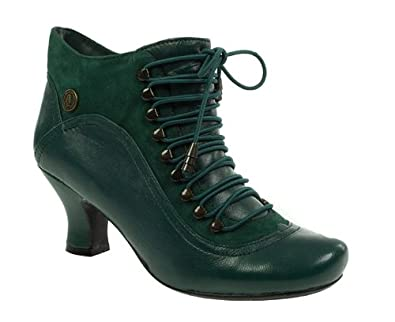 hot sale online new concept 100% authentic Hush Puppies Womens Ladies Dark Green Leather Victorian ...