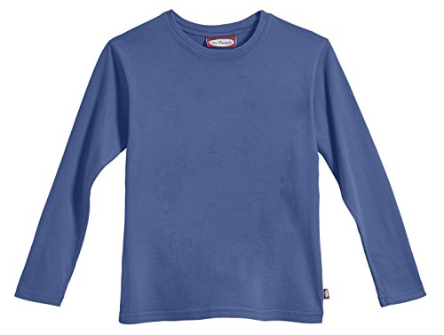City Threads Little Boys' Cotton Long Sleeve Tee Base Layer For Fall Winter School or Play - Sensitive Skins or SPD Sensory Friendly Kids Clothing , Smurf, 3T (Tee School Toddler)