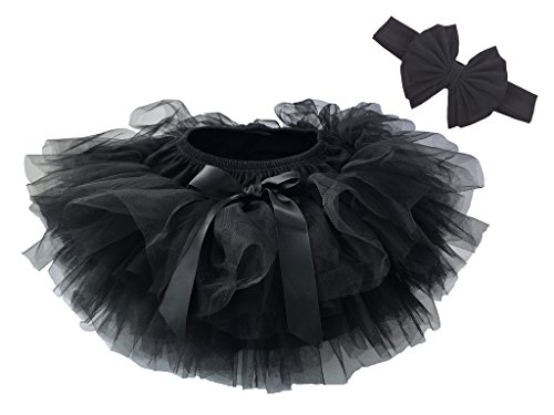 Dancina Baby Bloomer Romper Tutu Skirt Ages 6-24 Months Black
