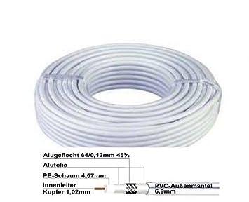 30 metros de cable coaxial SAT de alta calidad Cable Coaxial