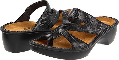 Naot Women's Montreal Wedge Sandal, Midnight Black Leather, 36 EU/5-5.5 M US