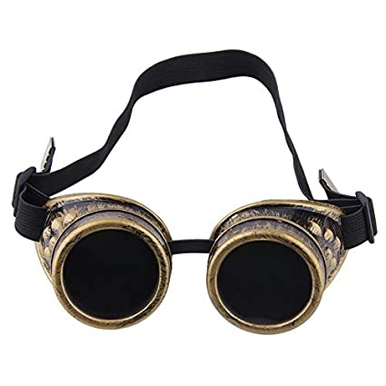 ZengBuks Gafas Profesionales Cyber Gafas Steampunk Vintage Soldadura Punk gótico Victoriano Deportes al Aire