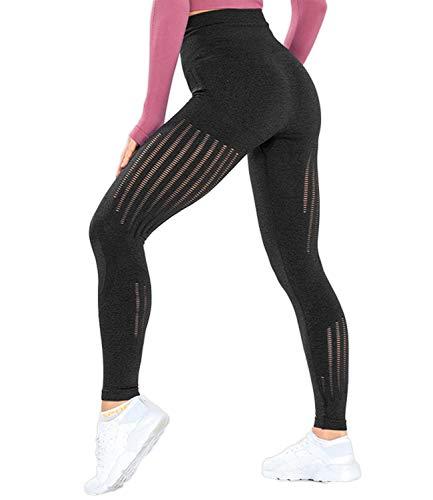 KIWI RATA Women's High Waist Active Seamless Compression Fitness Lrggings Running Workout Slim Butt Lift Yoga Pants