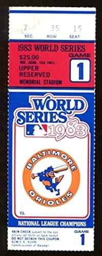 1983 World Series Ticket Orioles v Phillies Ripken 1st WS Game Ex/MT 43573