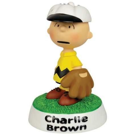 Peanuts Charlie Braun Baseball Mini-Statue
