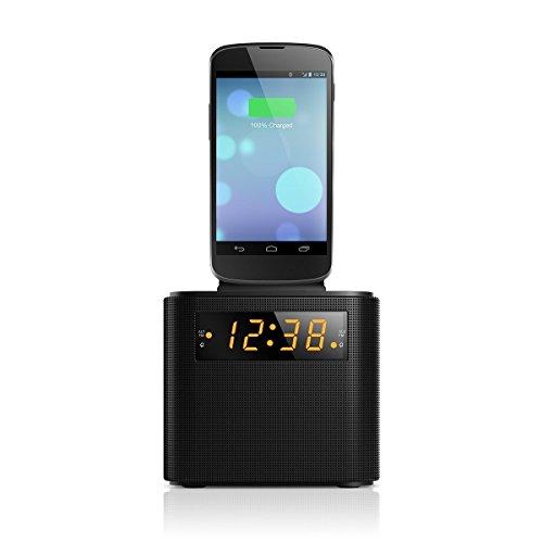 Cheap Clock Radios Philips AJ3200 Black Universal Charging Clock Radio including micro USB and iPhone..