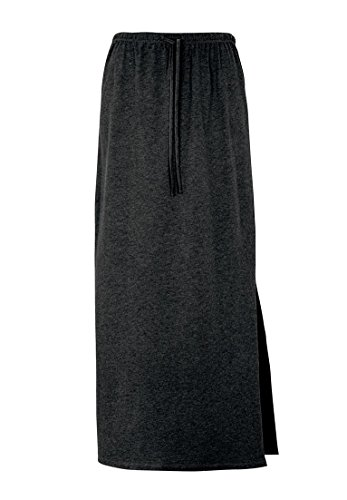Ellos Women's Plus Size Long Knit Skirt Black,1X Long Black Knit Skirt