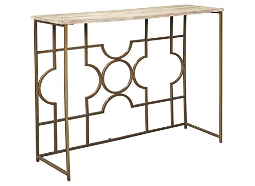 Signature Design by Ashley A4000198 Roelsen Console Sofa Table, Gold ()