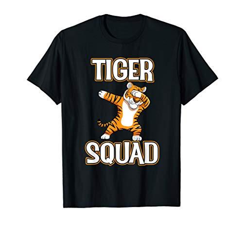 Dabbing Tiger Squad T-Shirt Football Mascot Dab Sports Tee