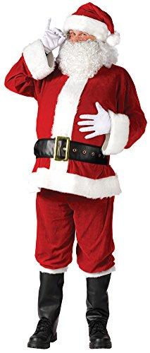 Santa Suit Complete Velour Costumes (Santa Suit Complet Velour Plus Adult Christmas Costume Adult Mens)