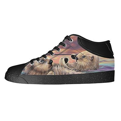 - Custom Otter Animal Womens Classic High Top Canvas Shoes Fashion Sneaker