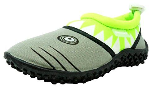 Footwear Lime - Fresko Toddler Water Shoes for Boys, Shark T1028, Lime, 5 M US Toddler