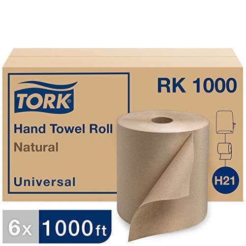 "Tork Universal RK1000 Hardwound Paper Roll Towel, 1-Ply, 7.87"" Width x 1000"