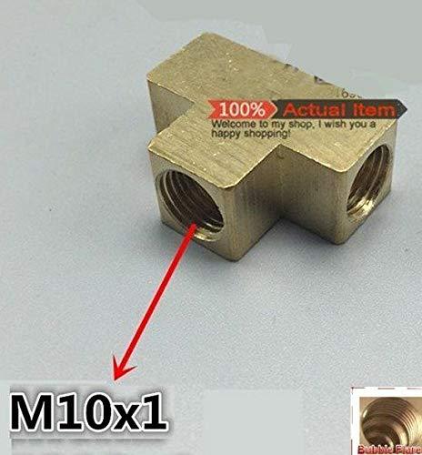 Metric Tee M10 M10X1 Female Fitting Brass Brake Oil Fuel Air Gas Dynapex