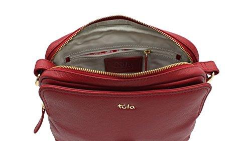 Tula, Borsa a tracolla donna, Angora (Rosa) - 8376 Scarlatto