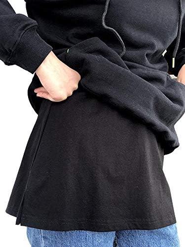 Women's Tops Fake Hemline Adjustable Layering Blouse Shirt Extender Lower Sweep Mini Skirt