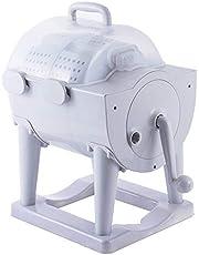 Bärbar Tvättmaskin Icke-elektrisk Handtvättbricka med Centrifugeringstork Kompakt Uttorkande Tvättmaskin för Lägenhet, Hotell, Sovsal, Camping Sovsalar