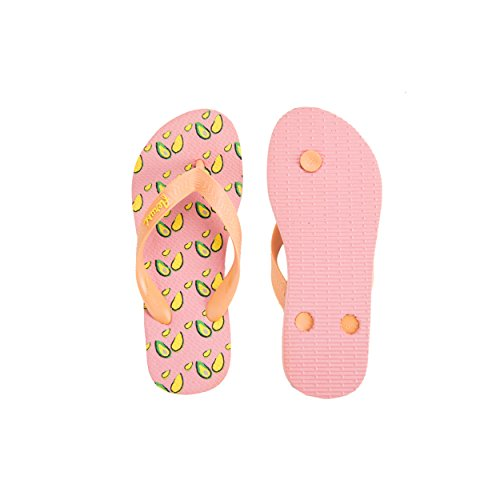 Flip Print Sandals Flop Women's Novelty Aerusi Avocado Pzx4tnq