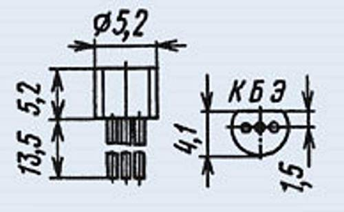 Transistors silicon KT209V analogue MPS404 military USSR 50 pcs