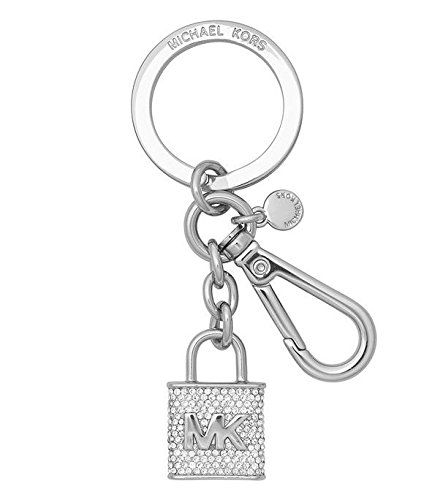 Pave Key (Michael Kors Pave Lock and Key FOB Key Chain in Silver)