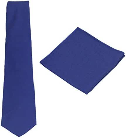 Various Solids Mens Linen Tie Set:Necktie + Pocket Square