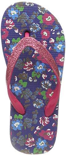 Sandrocks Girls Floral Print with Flower Strap Flip Flop