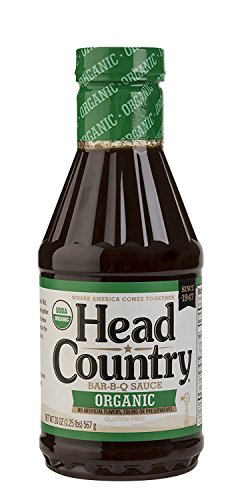 Head Country Bar-B-Q Sauce, Organic, 20 Ounce