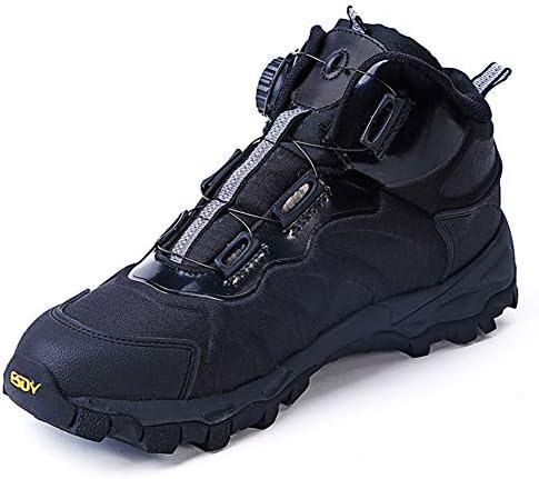トレッキングシューズ メンズ ハイキングシューズ 軽量 登山靴 メンズ ミリタリーブーツダイヤル式 コンバットタクティカルミリタリーブーツ 軍靴通気性 防水 防滑 耐磨耗 厚い靴底