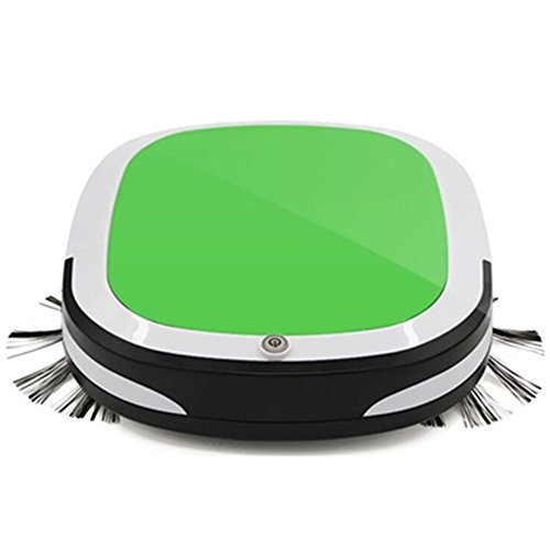 MIGHTYDUTY Automatic Robot Vacuum Cleaner for Home Cleaning Hardwood Floor Carpet Pet Fur Sweeping Robot High Suction Green(USA STANDARDS)