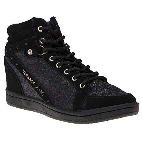 Versace Jeans Wedge Womens Sneakers Black