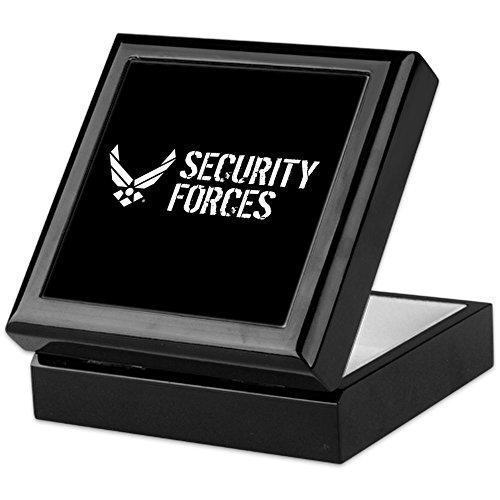 CafePress - USAF: Security Forces - Keepsake Box, Finished Hardwood Jewelry Box, Velvet Lined Memento Box