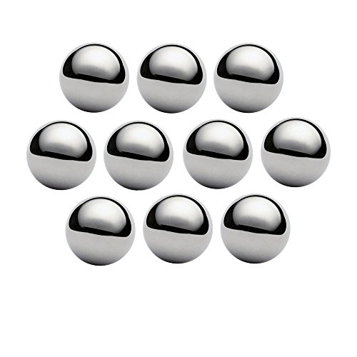 West Coast Paracord 1 Inch Chrome Steel Bearing Balls for Paracord Projects (10 Pack) (Paracord Monkeys Fist Keychain Self Defense Weapon)
