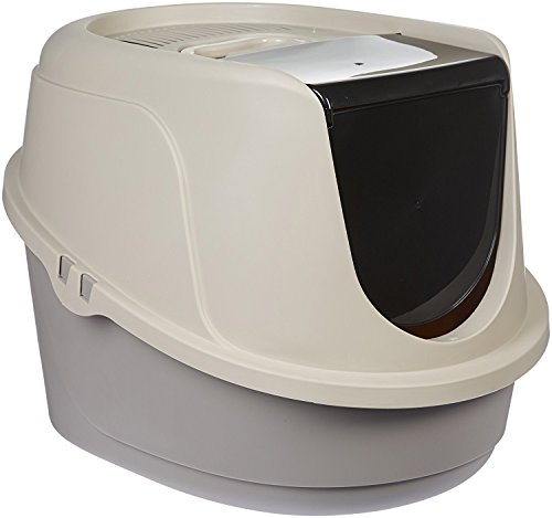 AmazonBasics Hooded Cat Litter Box, Large