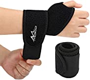 MoKo Wrist Brace, (2 Pack) Adjustable Athletic Wrist Support Wrist Wraps for Men & Women, Fit Both Right a