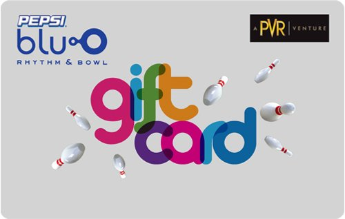 Get Flat 4% off at Checkout||PVR BluO Gift Card