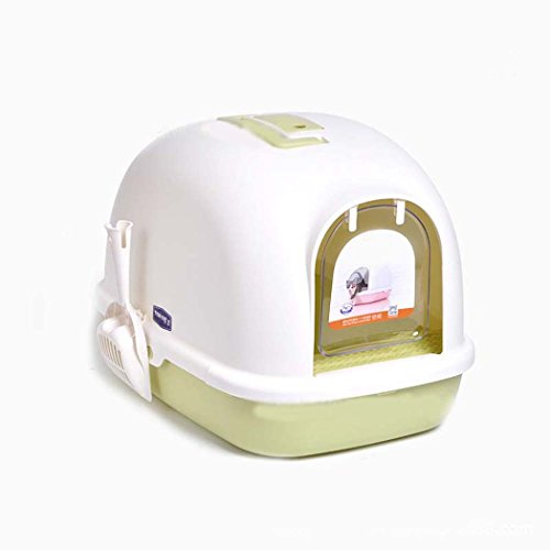 - DSHBB Cat Litter Box,less Litter Tray Sifting Toilet Box,cat Litter Tray With Lid,Front-Entry Configurable (Color : Green)