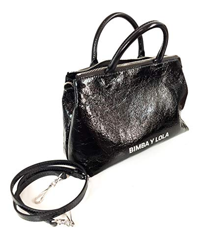 182BBAL2I y crossbody Women black bag Lola Medium Bimba leather 7xaRqCUan