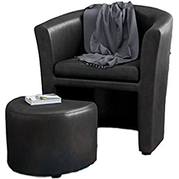 Amazon.com: Accent Chair With Ottoman Underneath Arm Chaise Lounge