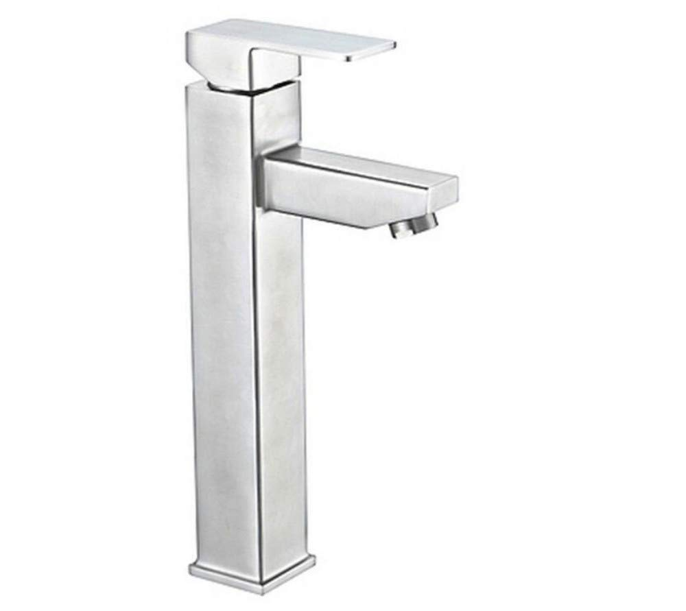 Modern Waterfall Copper Hot and Cold Kitchen Sink Taps Kitchen Faucet Square 304 Stainless Steel Basin