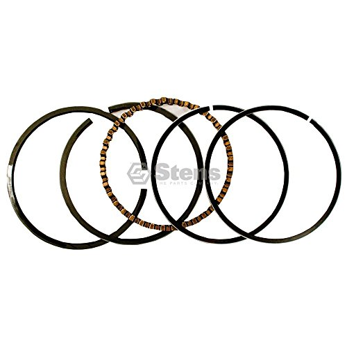 Stens Piston - Stens 500-744 Piston Rings STD, Black