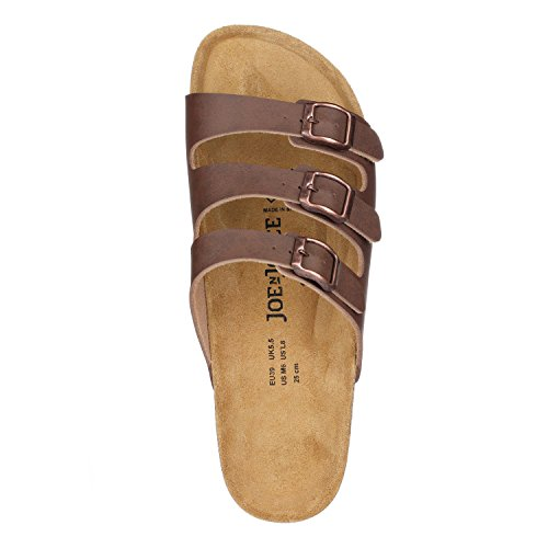 Cork Sandals Softbedded Brown JOE JOYCE Women SynSoft Slippers N Paris n1tnwBUYq