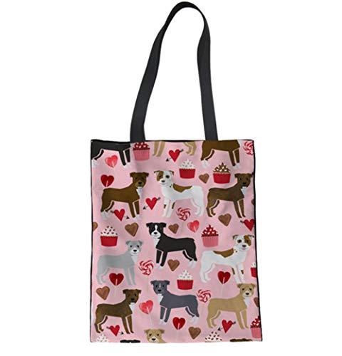 LANDONA Sac Femme Mon Sac Shopping Sac De Toile De Bouledogue Sac En Tissu De Coton Tissu Serviette Sac Écologique A