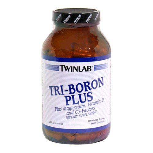 Twinlab Tri-Boron De plus, plus de magnésium, de la vitamine D3 et des co-facteurs, 240 Capsules (pack de 2)