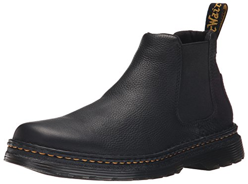 Dr.Martens Mens Oakford Grizzly Black Leather Boots 46 EU