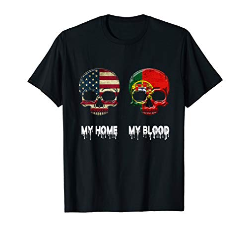 My Home my Blood Portugal Flag T-Shirt Portuguese Gift Tee