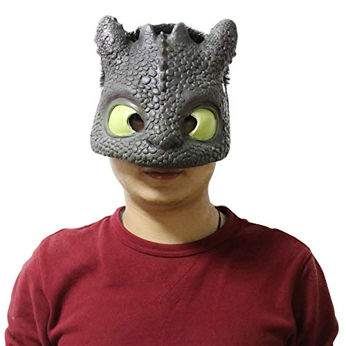 CoserWorld Night Fury Costume Latex Dragon Mask How to Train Your Dragon Toothless Mask -