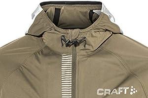 30811a383fd7a CRAFT Repel Veste imperméable de Running Homme, Olive/Argent, FR : S (.  Chargement des images en cours.