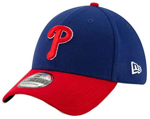 MLB Philadelphia Phillies Team Classic Alternative 39Thirty Stretch Fit Cap, Blue, Large/X-Large
