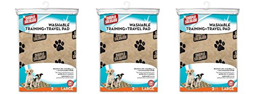 Simple Solution Large Washable Training and Travel Dog and Puppy Pad, Large - 2-Count (Pack of 3) by Simple Solution