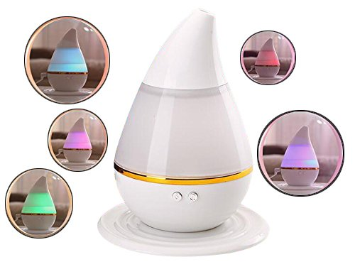 AVOMAR No Noise Water-drop Humidifier 7 Color LED Light Change Air Purifier Aroma Diffuser Mist Home Room Office USB charge Energy Saving Humidifier by AVOMAR